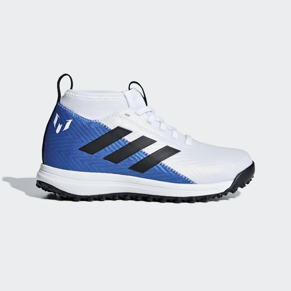 Adidas Rapidaturf Messi Cipő Fiu Fehér   Fekete   Kék  344927eb4c