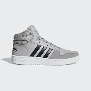 promo code 81209 68b19 Adidas Hoops 2.0 Mid Cut Sportcipő Férfi Szürke  Szürke  LNYQJS43