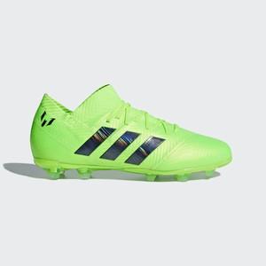 Adidas Nemeziz Messi 18.1 Firm Ground Boots Cipő Fiu Zöld   Fekete  1992a92ffc